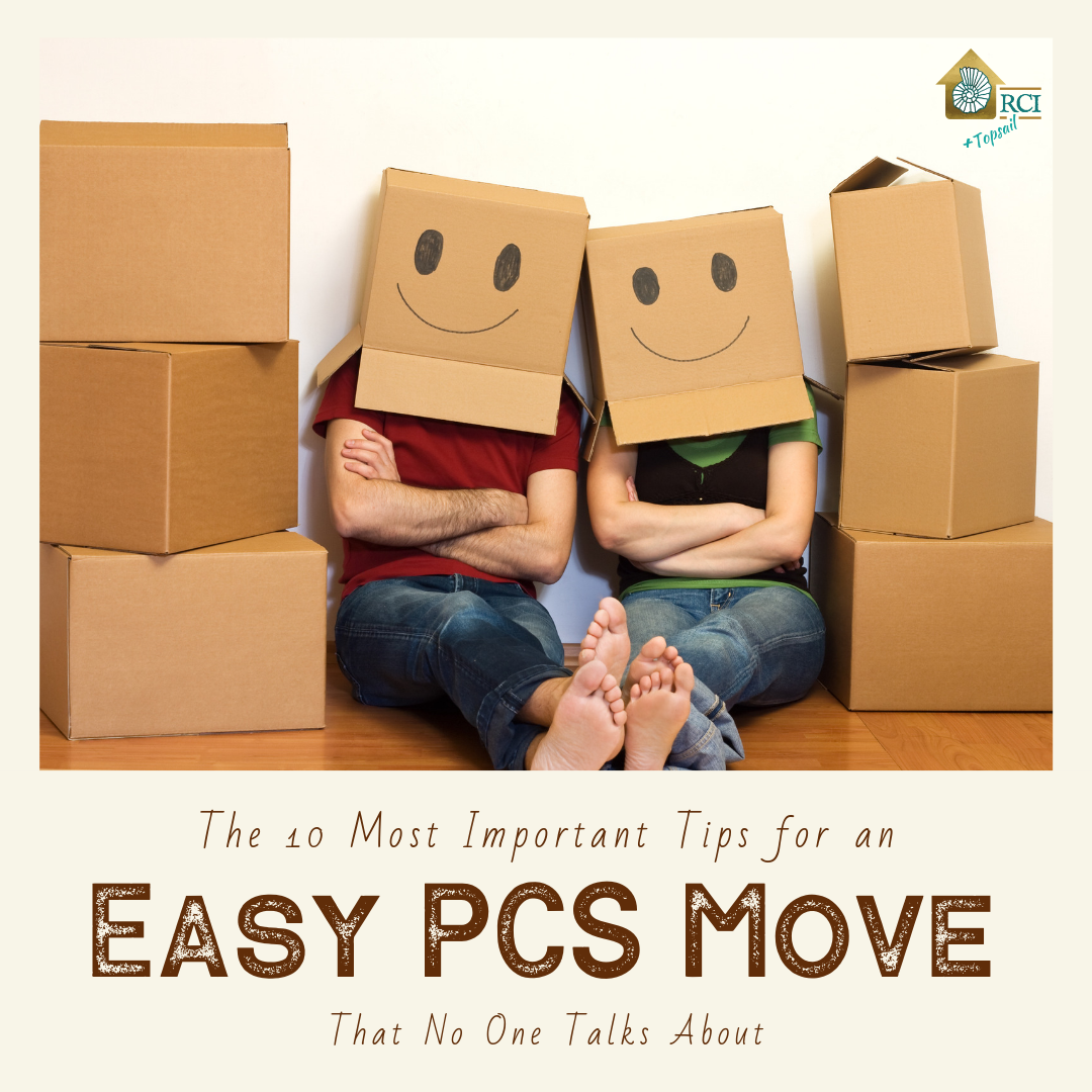 10 most important tips for an easy PCS move - RCI Plus Topsail