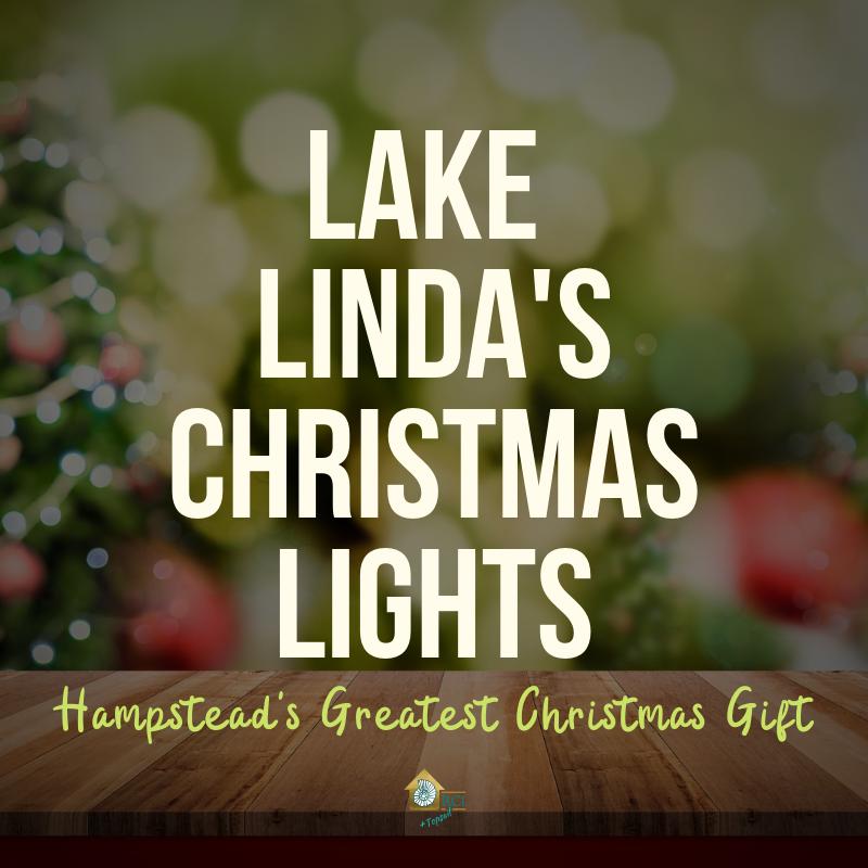 Lake Linda's Christmas Lights - RCI Plus Topsail - Hampstead's Greatest Christmas Gift