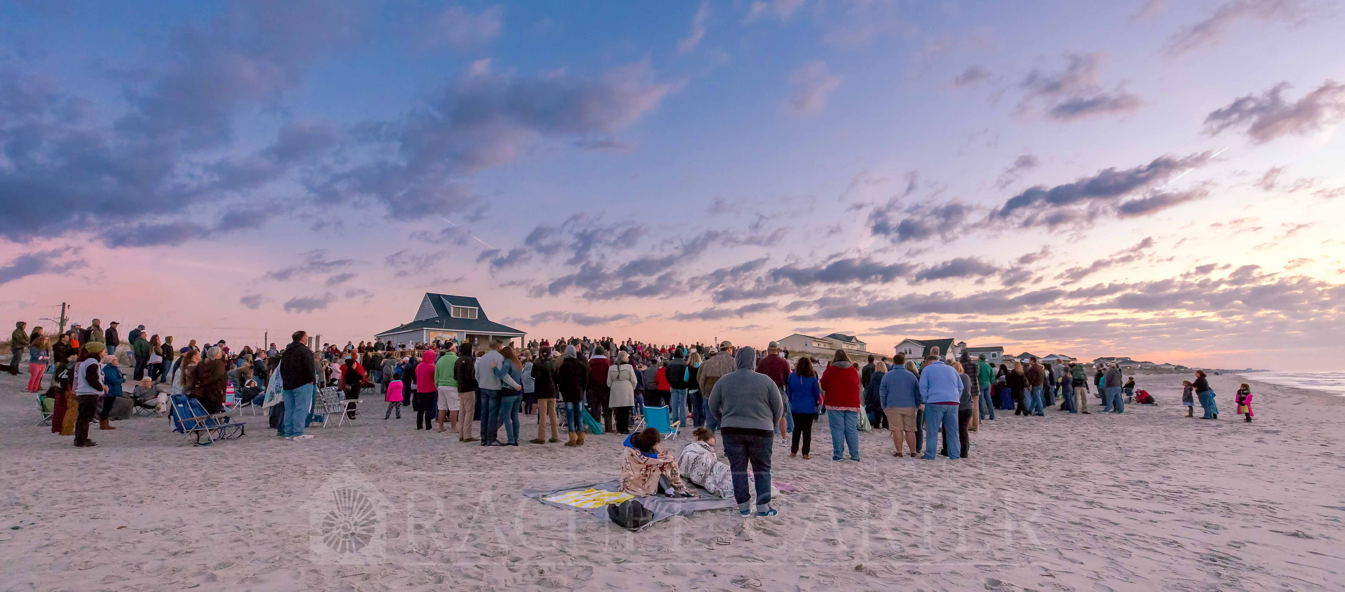 Easter Sunrise Service - North Topsail Beach Rachel Carter - RCI Plus Topsail