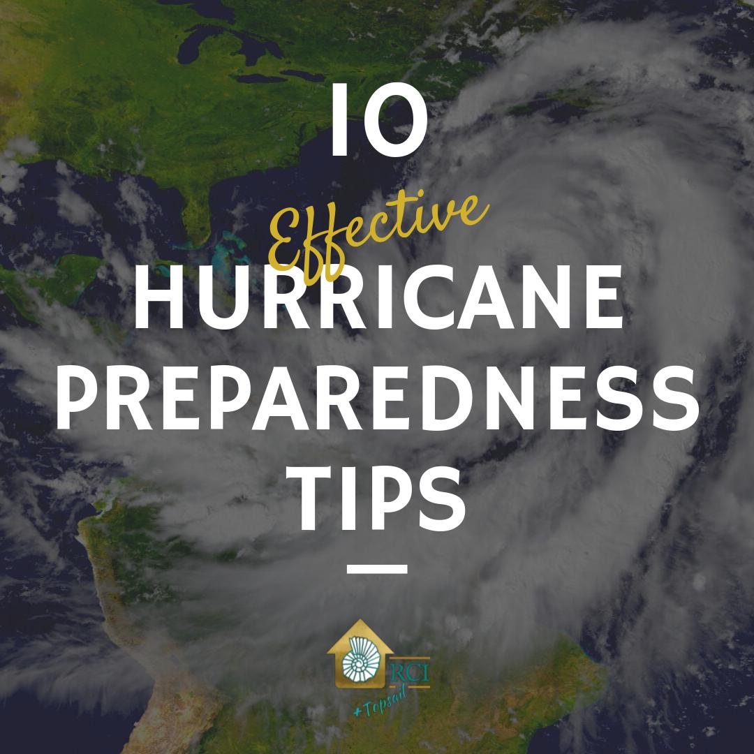 hurricane preparedness tips - RCI Plus Topsail