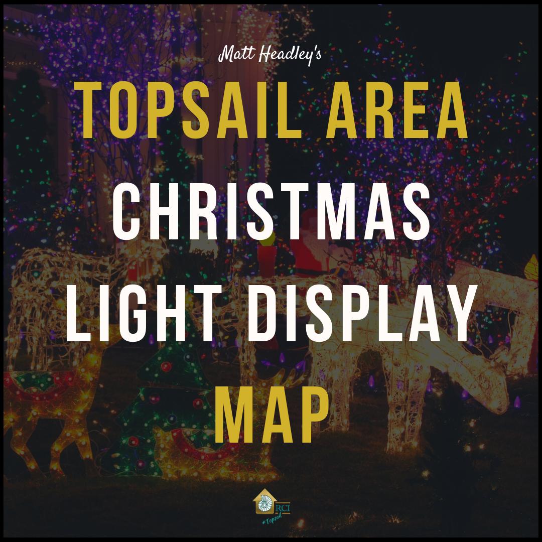 Topsail Christmas Light Display Map - RCI Plus Topsail